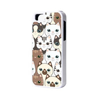 Cats iPhone 6 Plus 6 5S 5 5C 4 Rubber Case