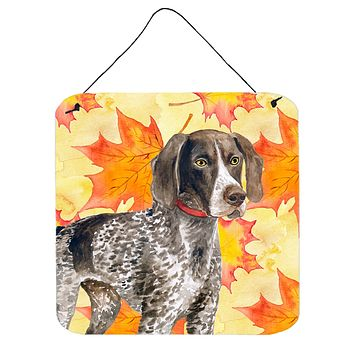 German Shorthaired Pointer Fall Wall or Door Hanging Prints BB9902DS66