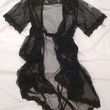 Sheer Luxe Robe - Black