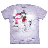 SNOW COUPLE The Mountain Christmas Snowman Love Winter Holiday T-Shirt S-3XL NEW