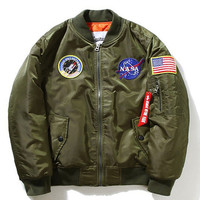 Apollo 11 NASA MA-1 Bomber Jacket in Olive MA1 Bomber Jacket Yeezus Bomber Jacket Nasa Bonber Jacket Apollo 13 Bomber Jacket TLOP Yeezy Lit