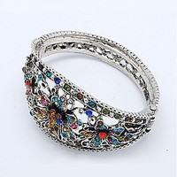 Buy Alloy Bangles, with Rhinestone, Multicolor