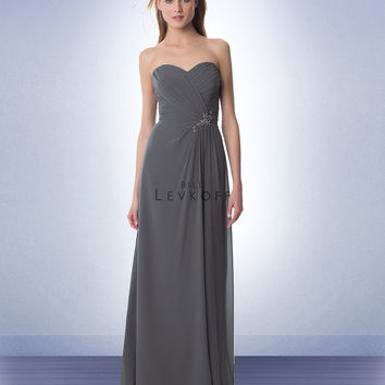 Bill Levkoff Long Chiffon Bridesmaid Dress 983