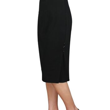 Vintage Pinup 60's High Waist Black Bow Wiggle Office Lady Pencil Skirt
