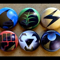 Pokemon TCG Types Button Pinback Set