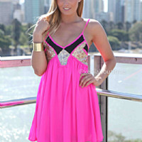 LINCOLN 2.0 DRESS , DRESSES, TOPS, BOTTOMS, JACKETS & JUMPERS, ACCESSORIES, 50% OFF SALE, PRE ORDER, NEW ARRIVALS, PLAYSUIT, COLOUR, GIFT VOUCHER,,Pink,Sequin,Gold,SLEEVELESS Australia, Queensland, Brisbane