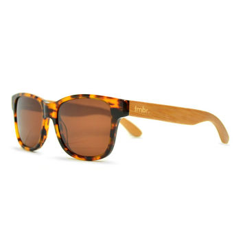 Tortoise Sunglasses, Tortoise Wood Retro Sunglasses, Wayfarer-Style Sunglasses - WSD1