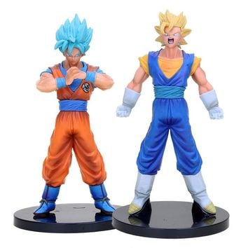 Dragon ball Super Figure DXF The Super Fighter Vol.2 3 4 Blue Yellow Hair Vegetto Trunks Goku Black PVC Action Figure Model Toys