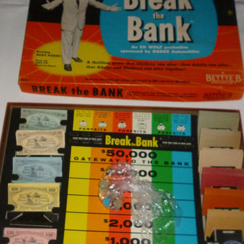 Vintage Break The Bank Board Game