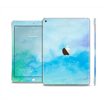 The Subtle Green & Blue Watercolor V2 Skin Set for the Apple iPad Air 2