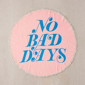 ban.do No Bad Days Oversized Round Beach Towel | Urban Outfitters