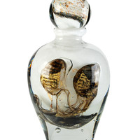 Original Bottle Sculpture with Gold Leaf by Jean Claude Novaro (1943-2014)