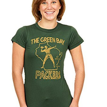 Junk Food Womens Retro Green Bay Packers T-Shirt