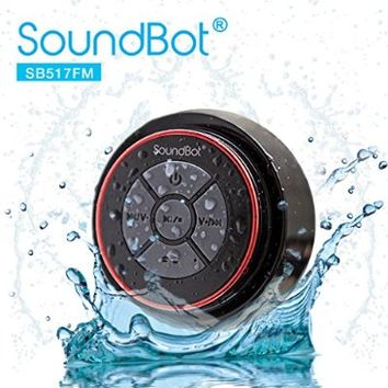 SoundBot SB517FM IPX7 Water-Proof Bluetooth Speaker with FM Radio (Red/Black)