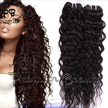 100%Unprocessed 6a Virgin remy human hair extensions Brazilian Virgin Hair Deep wave human Hair Extensions Weave Curly Brazilian Curly