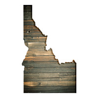Idaho Faux Wooden wall decal