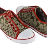 BNM Corporation - Amazon.com: Coach Women's Mika Signature C Jacquard Sneakers, Style A1851 (Khaki/Carnelian): Shoes