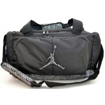 Nike Air Jordan Black and Gray Elephant Duffel Bag 9A1413-023