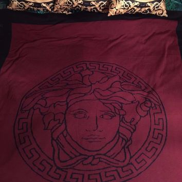VERSACE MEDUSA THROW BLANKET GREEK KEY WOOL NEW VALENTINES GIFT AUTHENTIC SALE