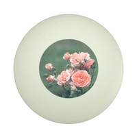 Beautiful pink roses on a natural green background ping pong ball