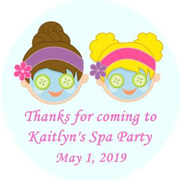 Spa Birthday Party Favor Tags