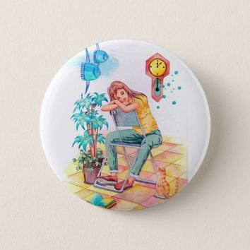 Rest time pinback button
