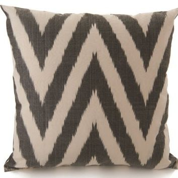 Ikat Zigzag Pillow Cover - Gray from Martyn Lawrence-Bullard on OpenSky