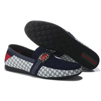 GUCCI  Men Flats Sneakers Sport Shoes