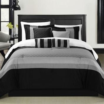 Chic Home Diamante 8 Piece Bed Set | Null