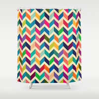 Geometric pattern Shower Curtain by Mrs. Opossum