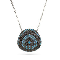 Evil Eye Reuleaux Triangle Necklace Silver 925