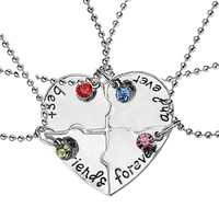 "4 Pc   s/set""best friends forever"" Necklace"