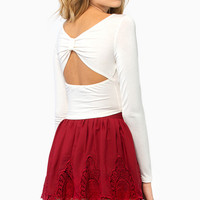 Back Bow Crop Top $22
