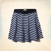 Hollister Natural Waist Knit Skater Skirt