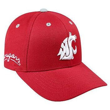 Licensed Washington State Cougars NCAA Adjustable Triple Threat Hat Cap Top of the World KO_19_1