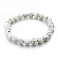 Natural Stone Strand Bracelets With Stones Love Casual Men Jewelry White Turquoise Beads Bracelets & Bangles for Women Gift