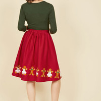 One Sharp Cookie A-Line Skirt | Mod Retro Vintage Skirts | ModCloth.com