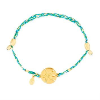 Sand Dollar Precious Threads Bracelet