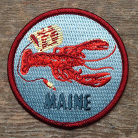MAINE Patch 3-3in FREE Shipping