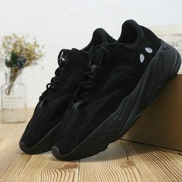 HCXX A401 Adidas Yeezy Boost 700 Ratro Casual Running Shoes All Black