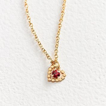 Vintage Heart Of Gold Charm Necklace | Urban Outfitters