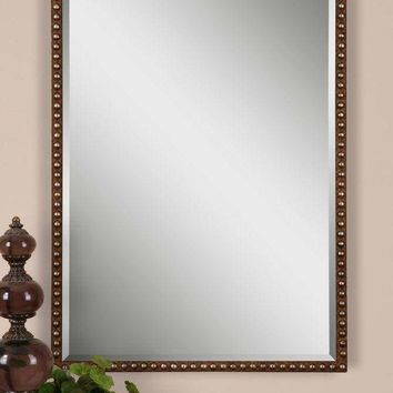 Tempe Distressed Brown Mirror By Uttermost