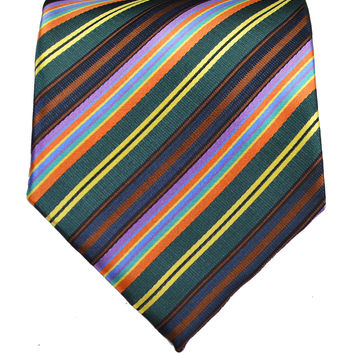 Teal Striped Men's Tie