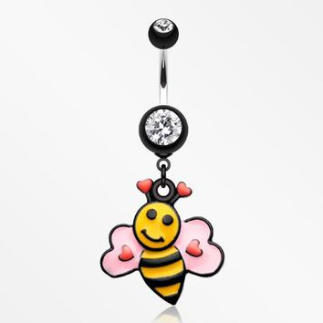 Bumble Bee Love Belly Button Ring