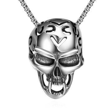 sterling silver Skull pendant necklace for men & Women jewelry