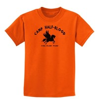 Camp Half Blood Child Tee - Childrens T-Shirt - Orange - Large