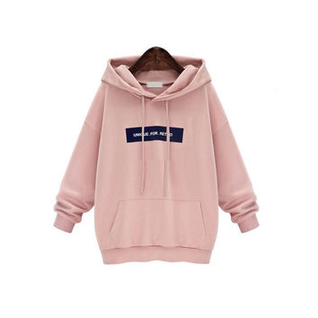 Fashion  Hooded Sweatshirt Women Pink 2016 Tracksuit  2 Colors Women Hoodies Sweatshirts Loose Hoddy Girls