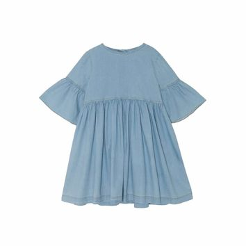 Yellow Pelota Girls' Stone Washed Denim Dress