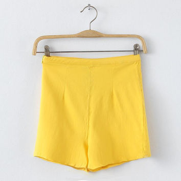 Summer Pants High Rise Stretch Sweets Shorts [4917820740]