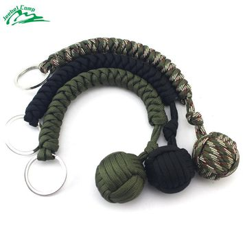 Emergency Paracord Rope 550 2mm Military Self-Rescue Survival Bracelet Camping Kit SOS Safety Cord Monkey Fist